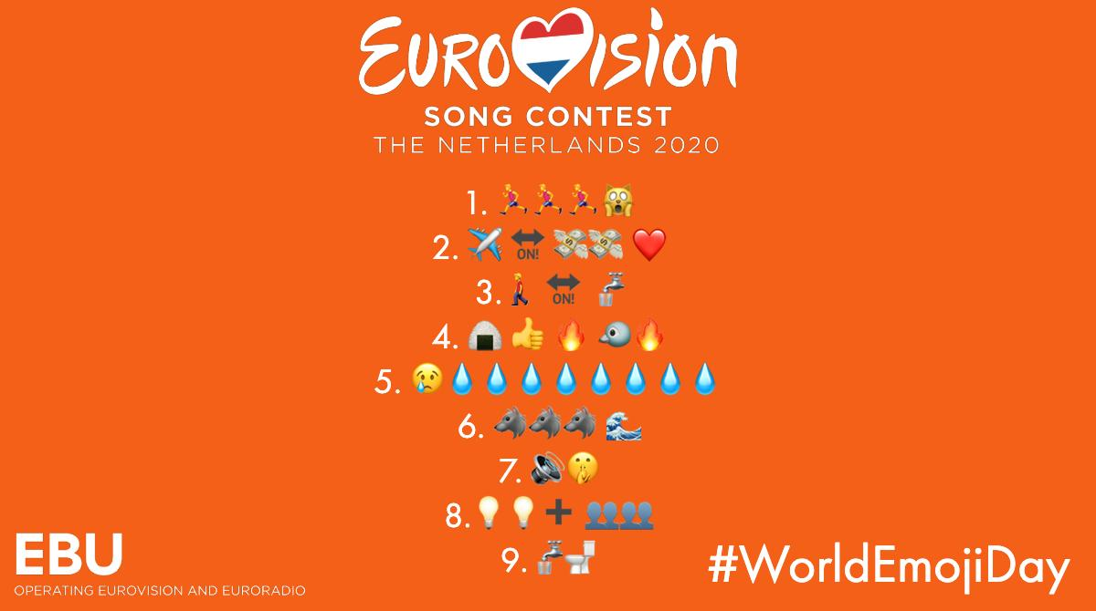 Take part in our ESC emoji quiz to celebrate #WorldEmojiDay Can you name the 9 songs made famous at the #Eurovision Song Contest that these emojis represent?🤔