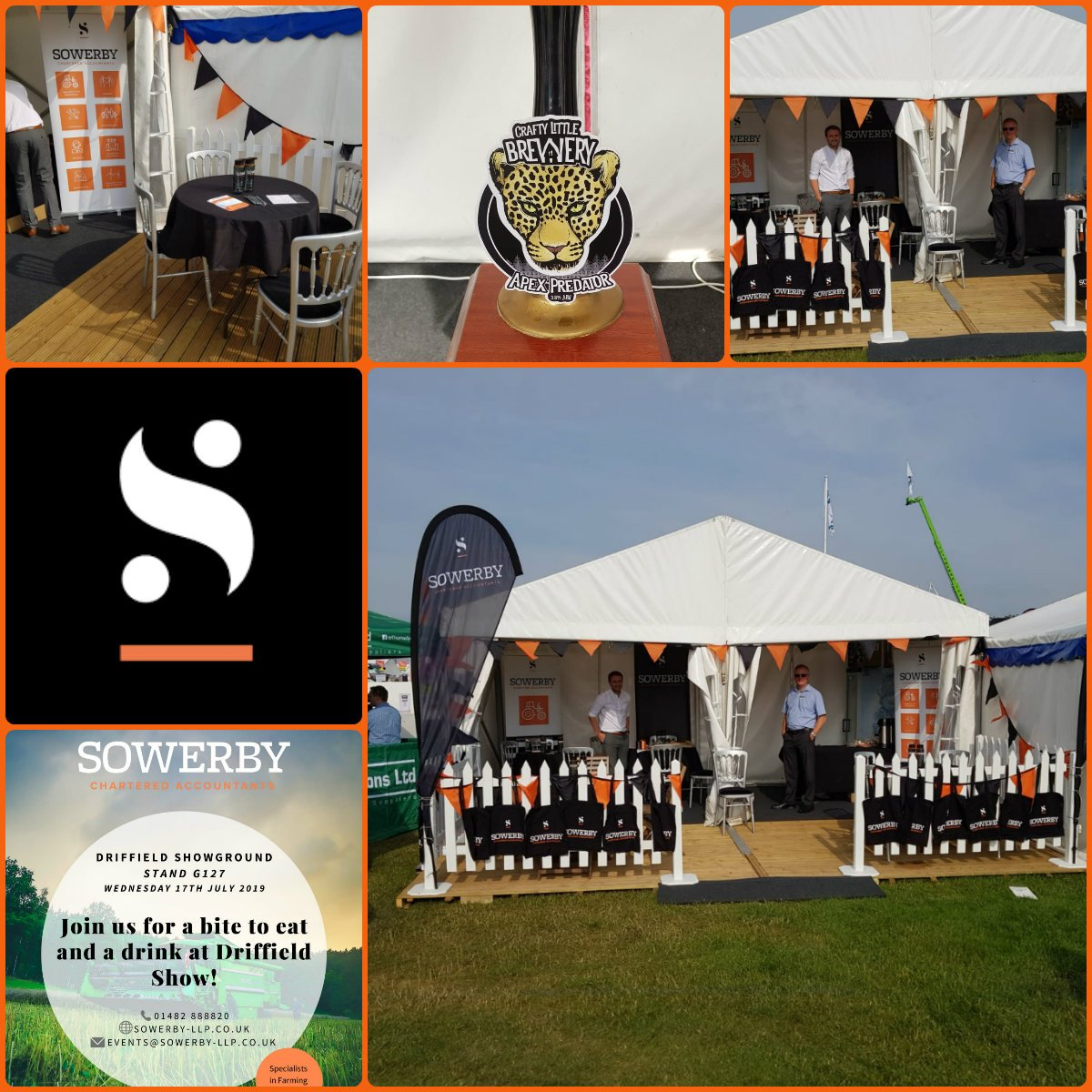 It's a beautiful day down @DriffieldShow Come and join us for a drink, bite to eat and a chat.  We are at stand G127 all day #driffieldshow #agriculture #driffshow #drink #chat #eat #charteredaccountant #accountancy #teamsowerby