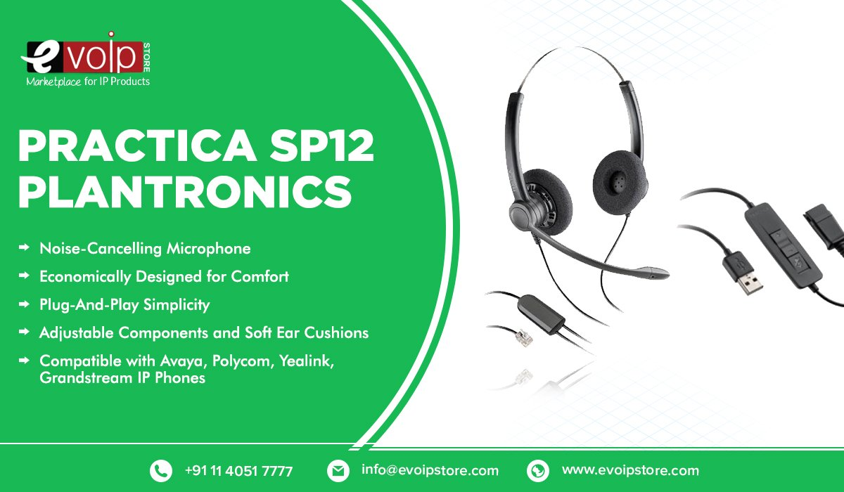Practica SP12 headsets provides the most cost-sensitive contact centers with good audio performance and economical design.  https://www.evoipstore.com/plantronics.html…   #plantronicsheadsets #headsets #headphones #voipsolution #voipsolutionsindia #voipsolutionprovider  #voipserviceproviders #evoip