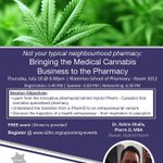 Our very own @DhallaRahim is thrilled to be speaking tomorrow!  https://t.co/uaIbWE3mf4  #HybridPharm #Pharmasary #FromPlantToPatient #PharmaSeed #OttawaPharmacy #OttawaCannabis #CanadasFirstAndOnly #Compounding #Phytocannabinoids #Terpenes #EndocannabinoidSystem #Waterloo #YOW