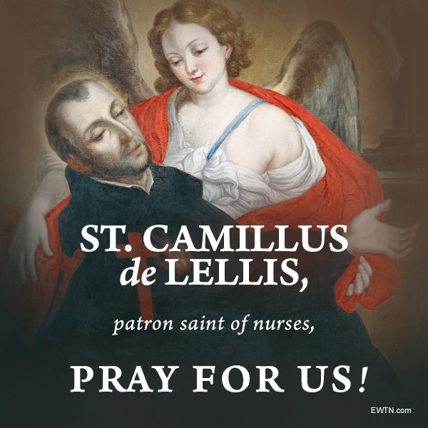 On July 18 the U.S. Catholic Church celebrates the feast day of St. Camillus de Lellis, who turned from his life as a soldier and gambler to become the founder of an order dedicated to caring for the sick. St. Camillus, pray for us! catholicnewsagency.com/saint/st-camil…