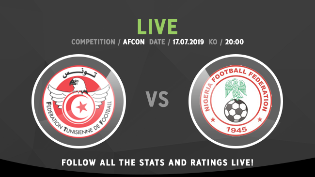 ⏰ LIVE: 🇹🇳 Tunisia 🆚 Nigeria 🇳🇬 🏆 Competition: #AFCON2019 📍 Location: Cairo 🆚 Last meeting: 🇹🇳 1-1 🇳🇬 Follow the action live -- whoscored.com/Matches/140312…