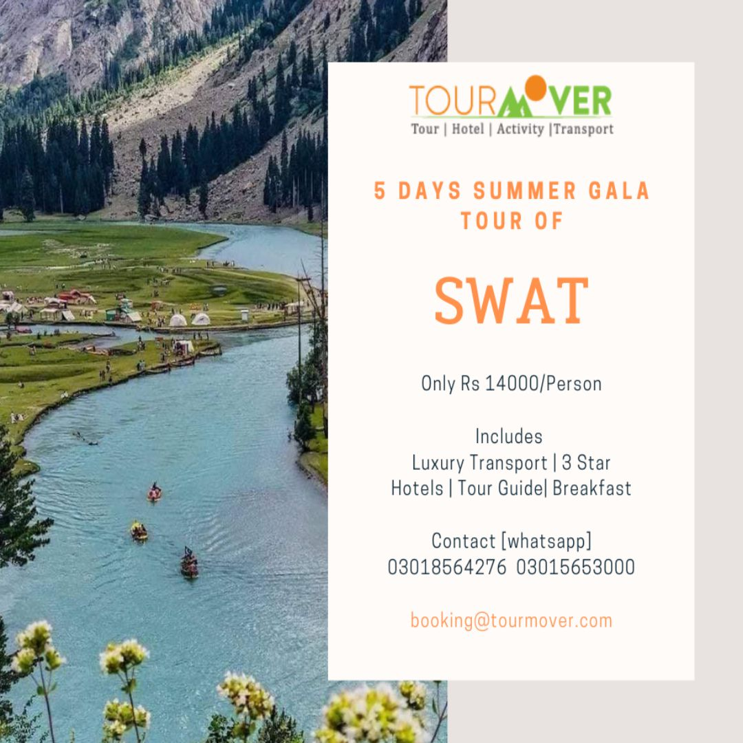 Beautiful Valley of #Swat Calling You! 🏞️   Best spent 5 Days of Your Life in cool lush green #forests,  #lakes,  #mountain #peaks,  luxurious transport and top rated luxury hotels.  Hurry up to book your seat on the group #tour departing this week.  Contact us Now. https://t.co/w18Bmvw5vl