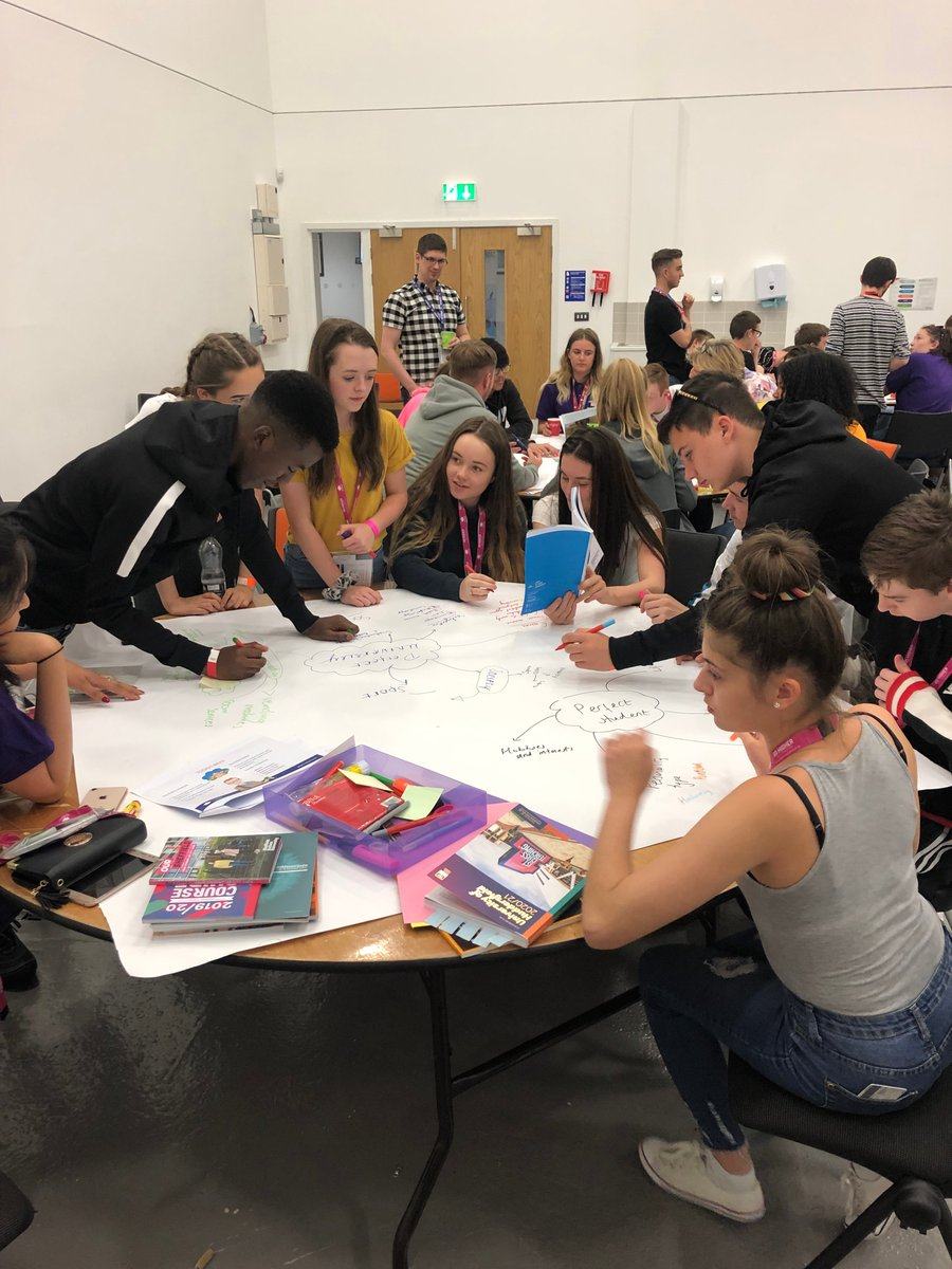 The final activity has commenced - students are designing their perfect university and student @GoHigherWY #NCOP