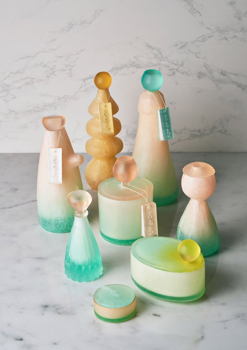 Designing the future. Central Saint Martins post-graduate student Mi Zhou creates beautiful bottles and jars cast from soap that melt away, leaving no packaging behind: (link: https://bit.ly/2Lp6CrX ) http://bit.ly/2Lp6CrX  #PlasticFreeJuly #InnovationIsGREAT
