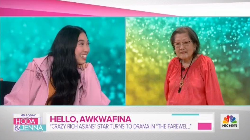 OMG, @awkwafina's grandma is everything!! @WillieGeist #TheFarewell #IMissMyGrandma @HodaAndJenna