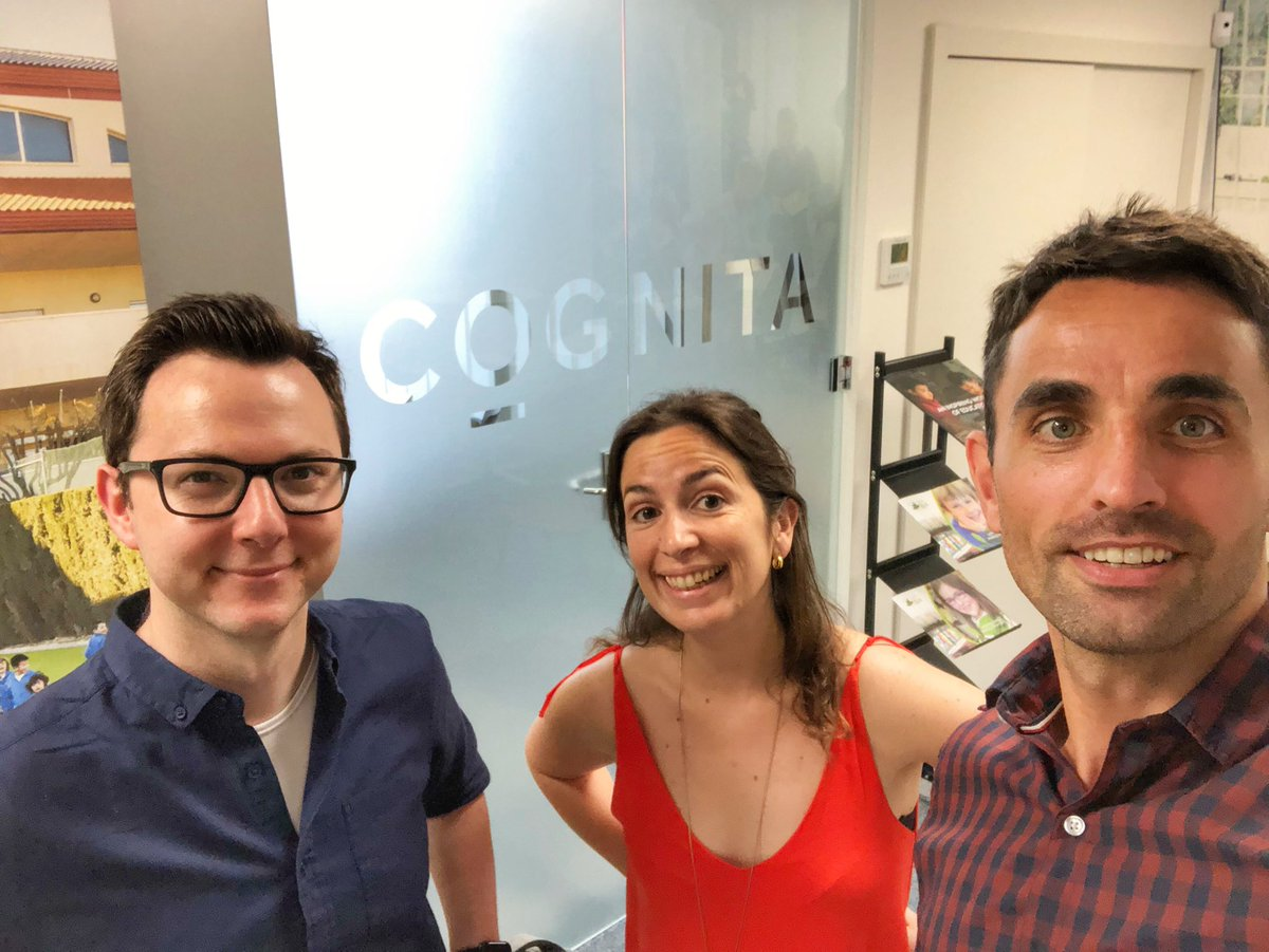 Colleagues from across the Cognita world coming together to share expertise, insights and ideas to improve the educational experience for our students. This is the #CognitaWay @andyperryer @sabrieo @edTechEvans