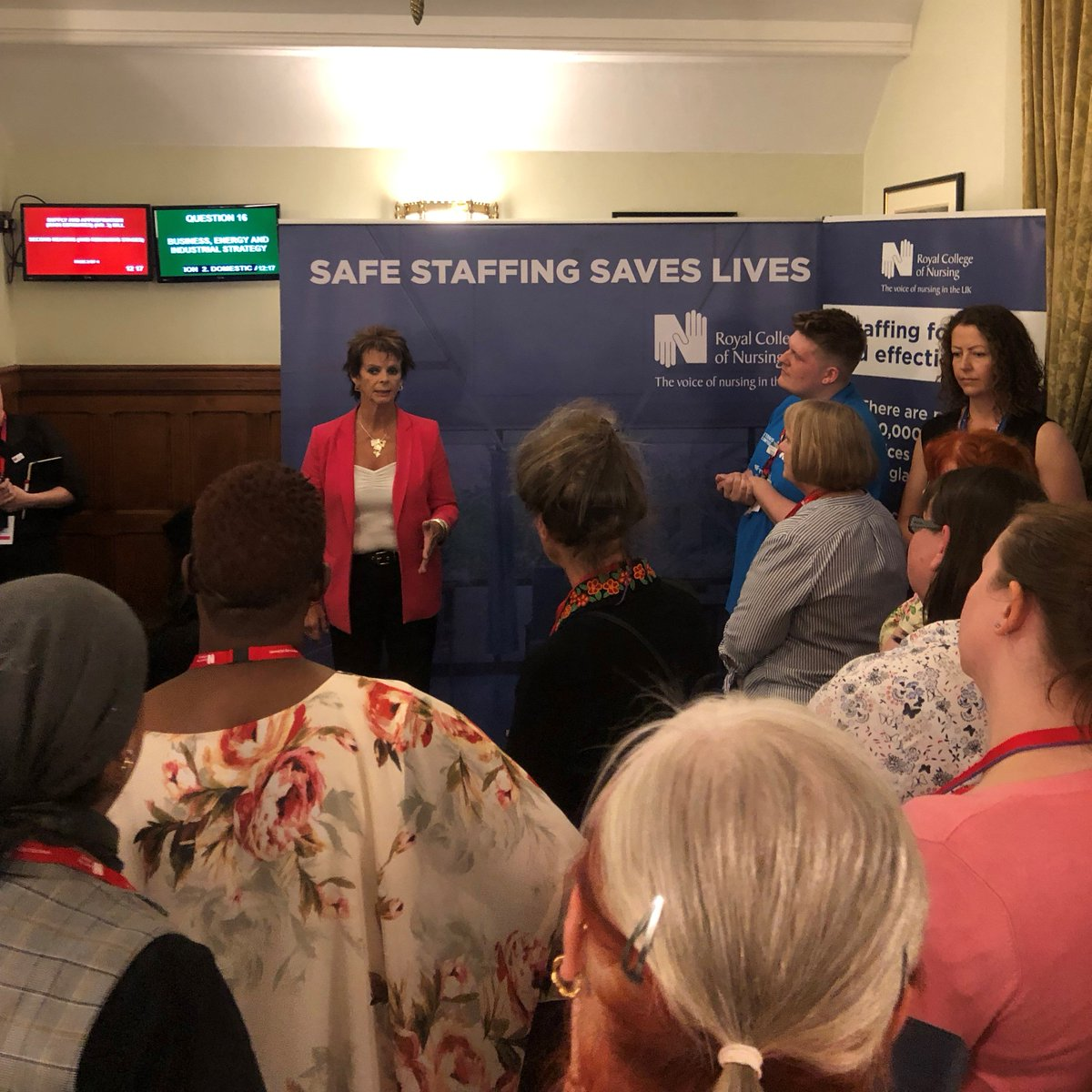 An honour to talk to nursing staff and students in the House of Commons yesterday and to discuss training and apprenticeships for nurses. Thank you to the Royal College of Nursing for inviting me to talk - as I said yesterday 'once a nurse, always a nurse!'