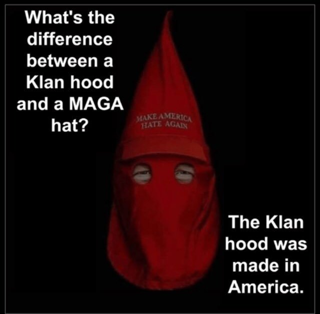 A vote you lost concerning your xenophobic and racist tweets.  When the hood fits. #WednesdayThoughts #RacistTrump<br>http://pic.twitter.com/XL79xyCHBg