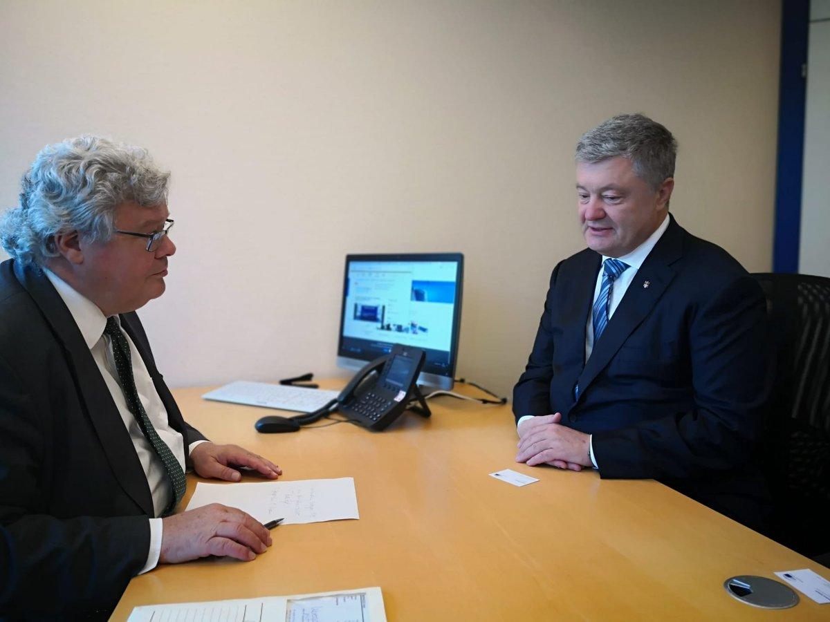 Meeting with former #Ukrainian President #Poroshenko today.