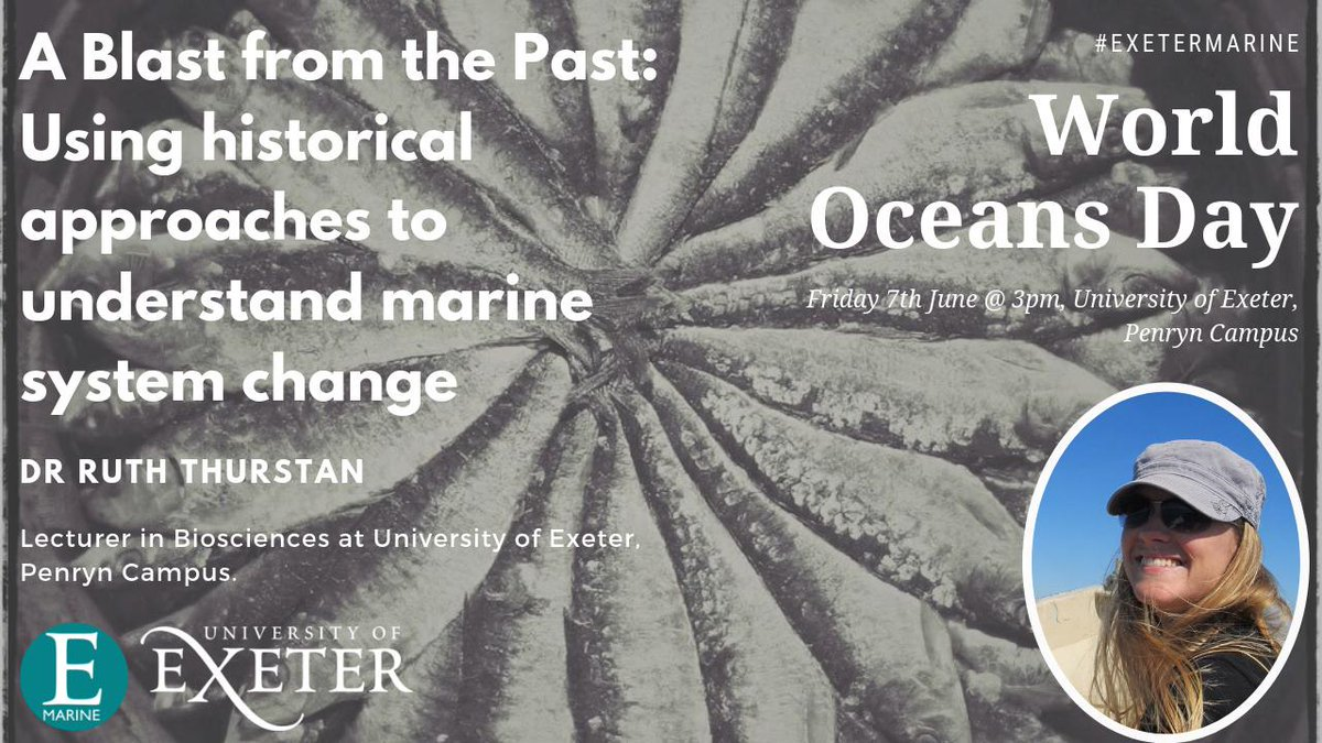 MT @ExeterMarine: Missed our #WorldOceansDay celebrations last month? 🌏🌊  We are releasing the 3 talks for FREE online for everyone to watch! 🤗 Check out Dr @ruththurstan talking about using historical data📉 to understand marine ecosystem change!🐟 http://bit.ly/thurstan