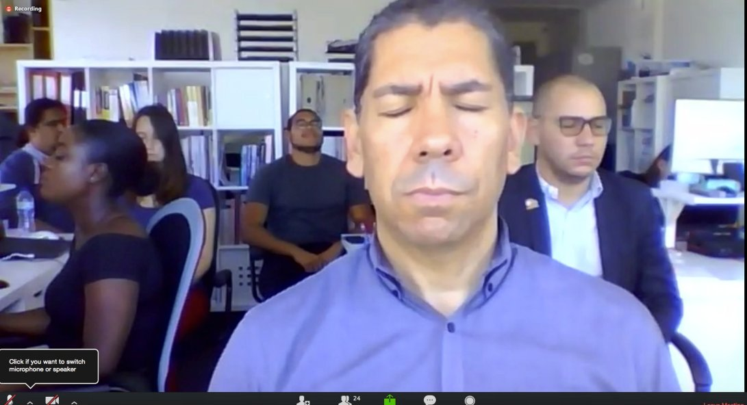 Did you know that every week, the entire @Shocklogic team practices meditation together? We find it helps to reduce stress, and improve our focus. #WellnessWednesday #eventprofs <br>http://pic.twitter.com/zZBynsSfh8