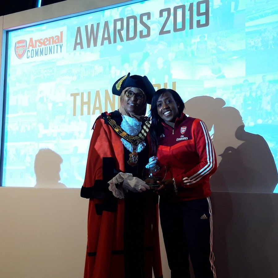 Congratulations to @DanielleCarter on winning the @PFA Community Champion Award 👏  Your incredible work with @AFCCommunity doesn't go unnoticed ❤️