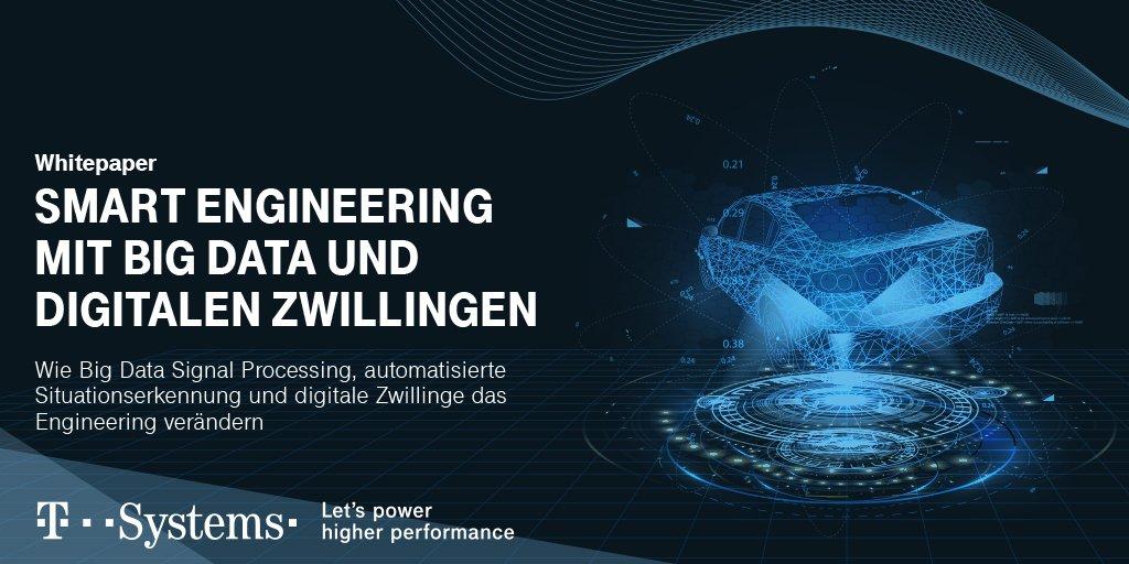 Social Media Post: Smart Engineering auf der Überholspur: Das neue @tsystemsde...