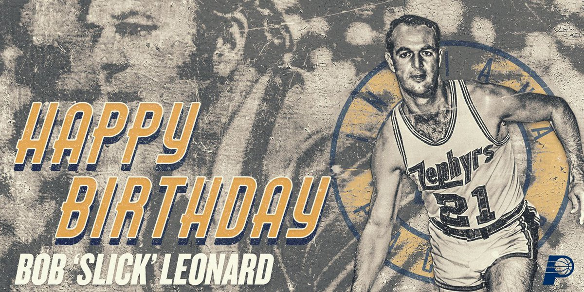 BOOM BABY! 🎉 Happy birthday to our Hall of Famer and living legend, Slick Leonard.