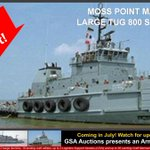 Update on the former @USArmy Moss Point Marine 800 Series #tugboat up for #auction from https://t.co/PuDVngyKdh - the bid deposit requirements have been just been removed! Checkout the listing details & bid: https://t.co/Jqv3wvzDoV