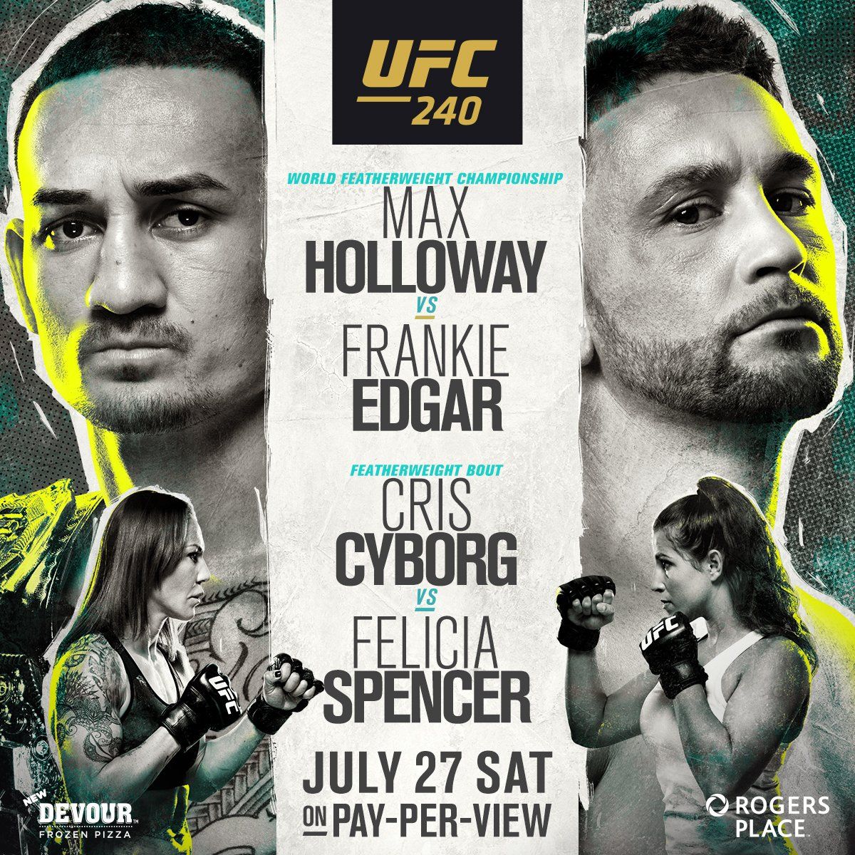 #UFC239 FIGHT: #HollowayVSEdgar #CyborgVSSpencer & MORE ON JULY 27, 2019! Order this event for your bar or restaurant here: http://ow.ly/pvLy30mvhxz