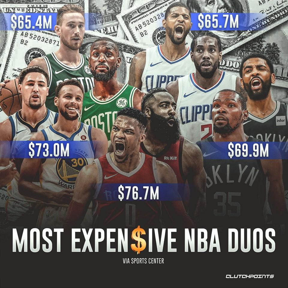Kyrie Irving and Kevin Durant are totally worth it 💰 #Nets #WeGoHard