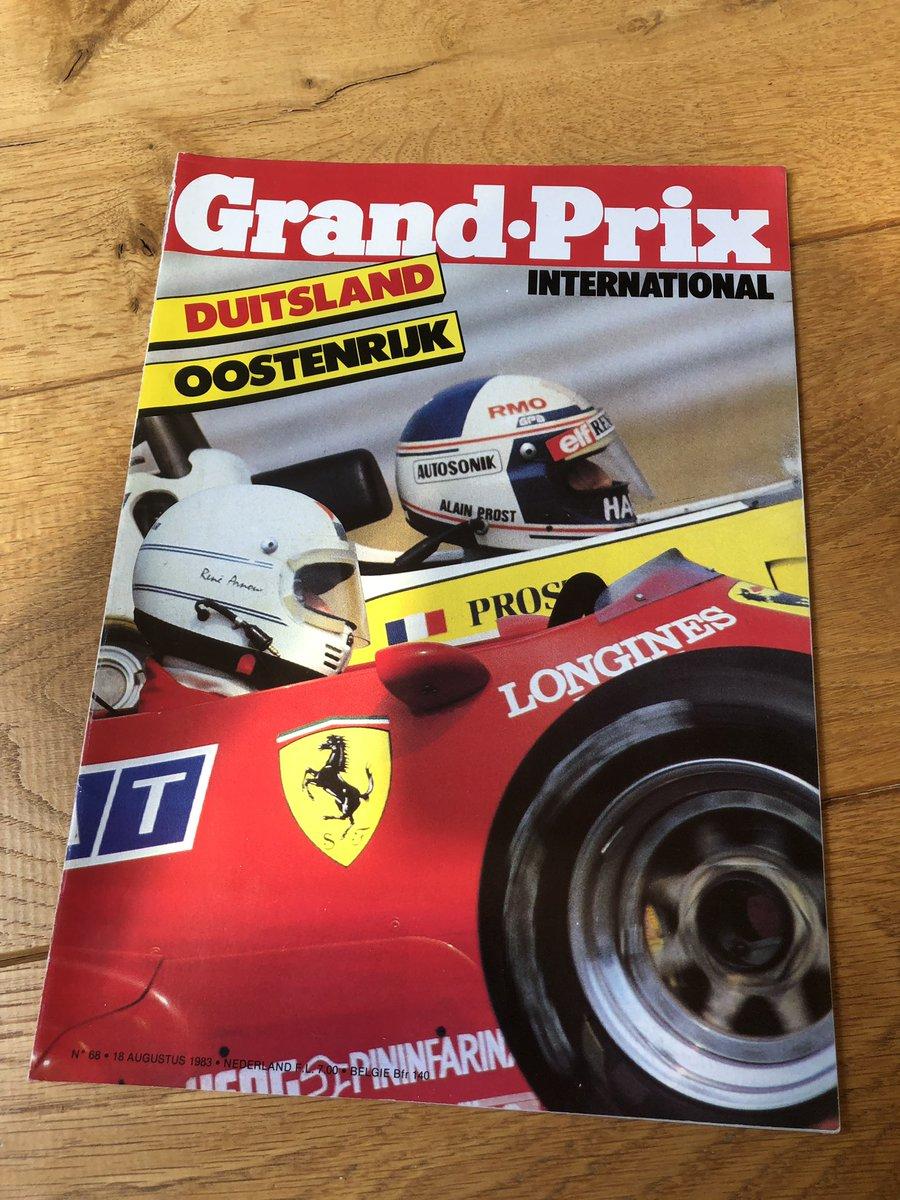 Wie van jullie kent het tijdschrift Grand Prix International (nog)? Een prachtig blad dat een tijdlang (jaren 70 en 80) ook in het NL uitkwam.   Hier foto's van de Tyrrell 012 Boomerang die #AustrianGP 1983 gereden werd. Een all time fave #F1 voor mij! 😍 #GPI