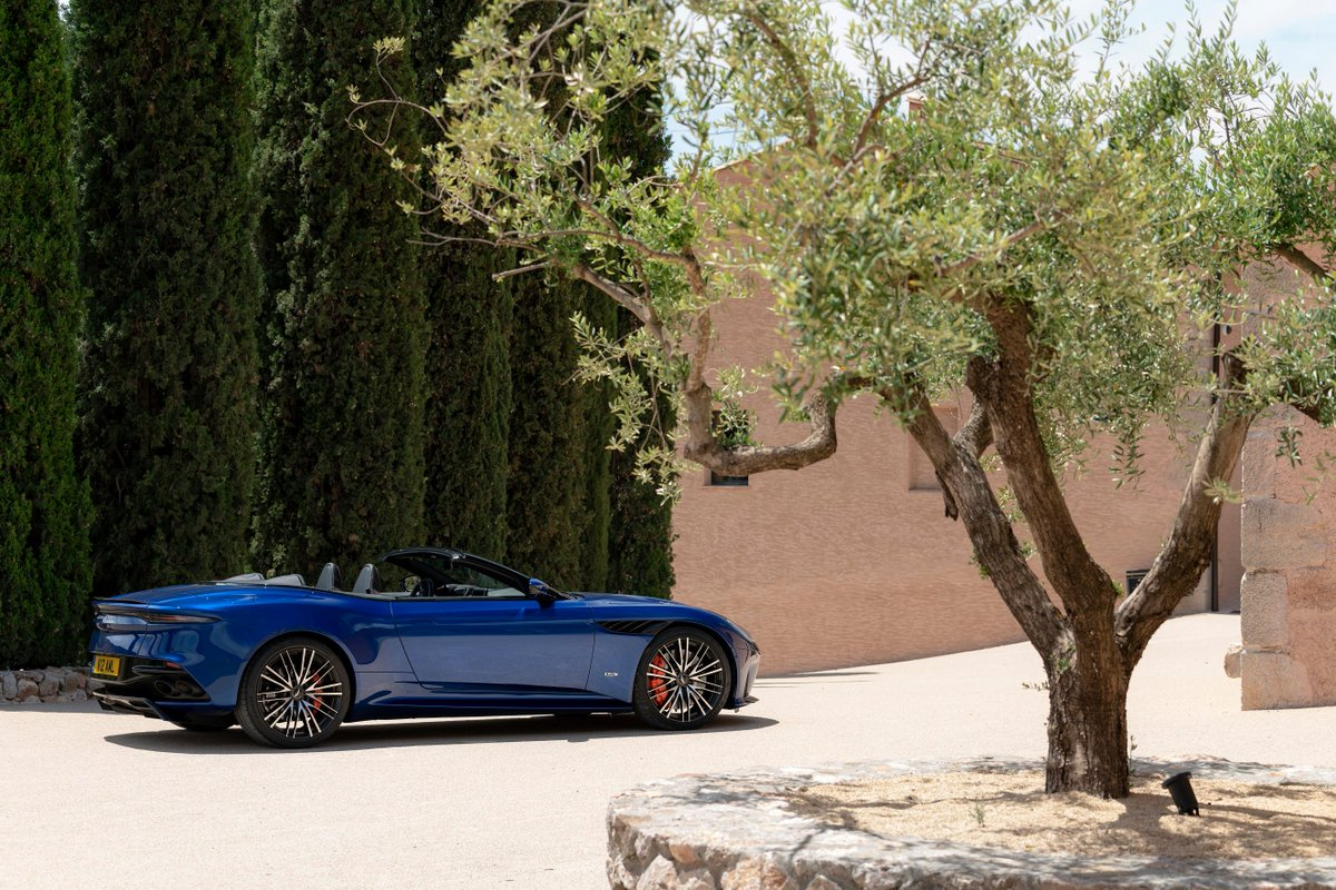 The DBS Superleggera Volante carries the beauty and performance that the wings badge represents.  A true example of elegance and style has been paired with a 5.2 litre twin turbo V12 engine to create an unforgettable experience.  #DBSSuperleggera #Volante #AstonMartin