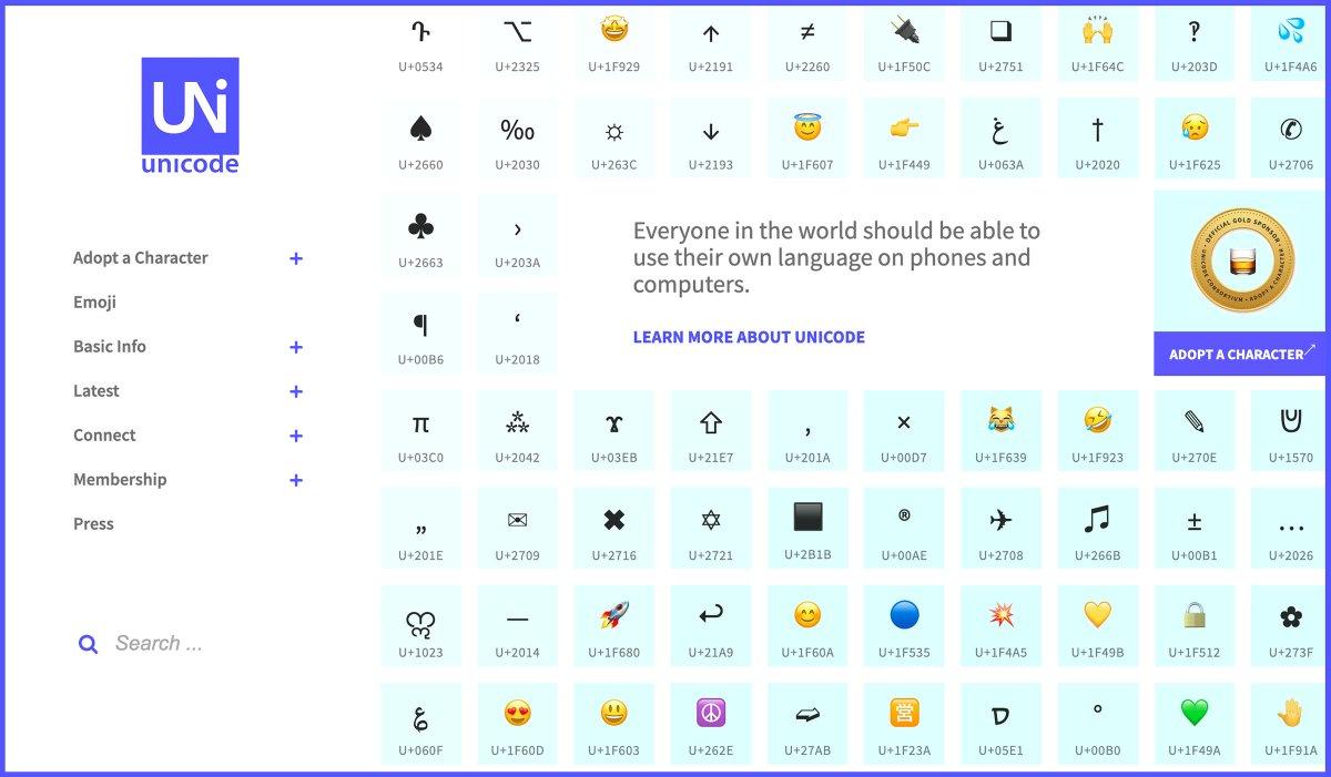 The Unicode Consortium (@unicode) | Twitter