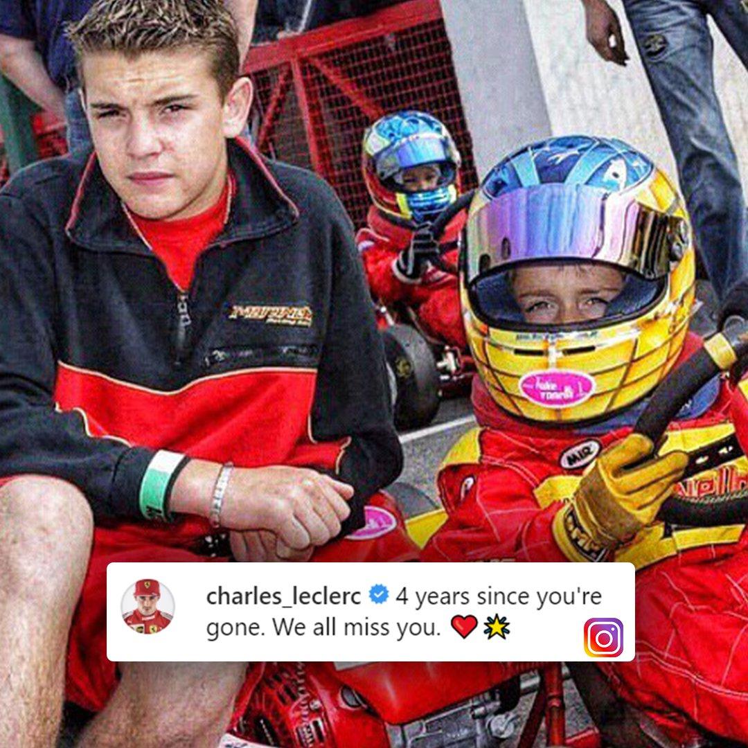 L'omaggio di @Charles_Leclerc per @Jules_Bianchi, a 4 anni dalla sua tragica scomparsa #SkyMotori #F1 #Formula1