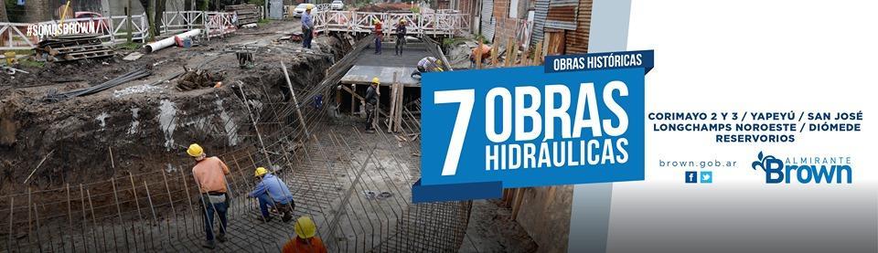 SEGUIMOS AVANZANDO EN 7 OBRAS HIDRÁULICAS A LO LARGO DEL MUNICIPIO #SomosBrown @CascallaresPJ