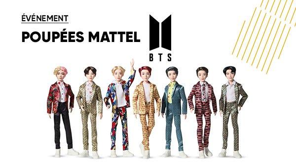JEUX-JOUETS 🤹♀️ | Événement💥: Les poupées @Mattel #BTS sont disponibles en précommande à la Fnac 😯 >> fcld.ly/2ae0zcu
