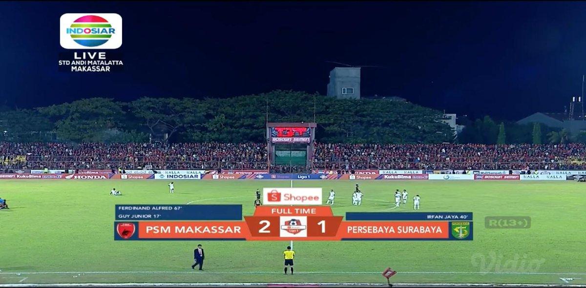FT #ShopeeLiga1 PSM Makassar 2-1 Persebaya