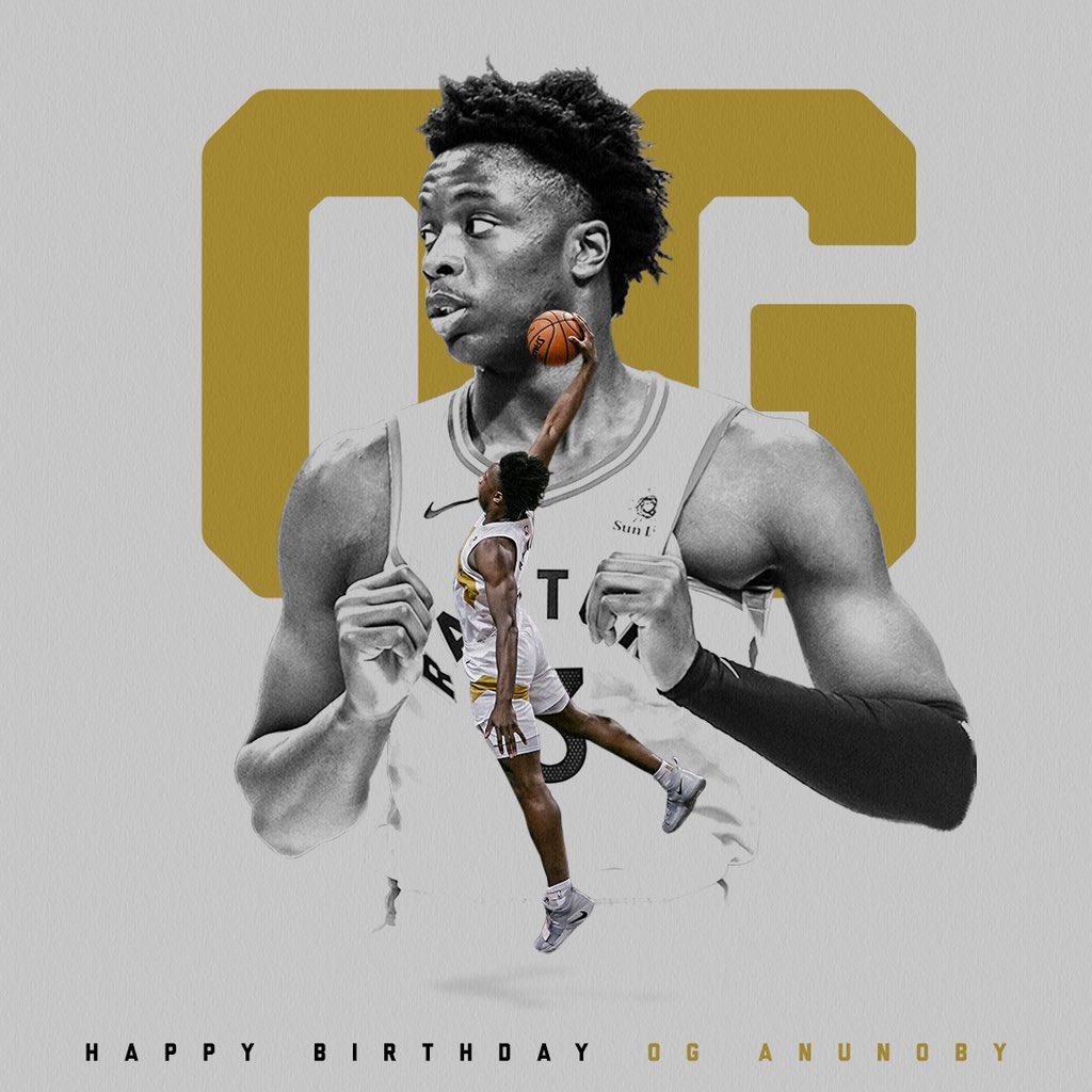 Happy Birthday to the Young OG! 🎂🎈 @OAnunoby | #WeTheNorth