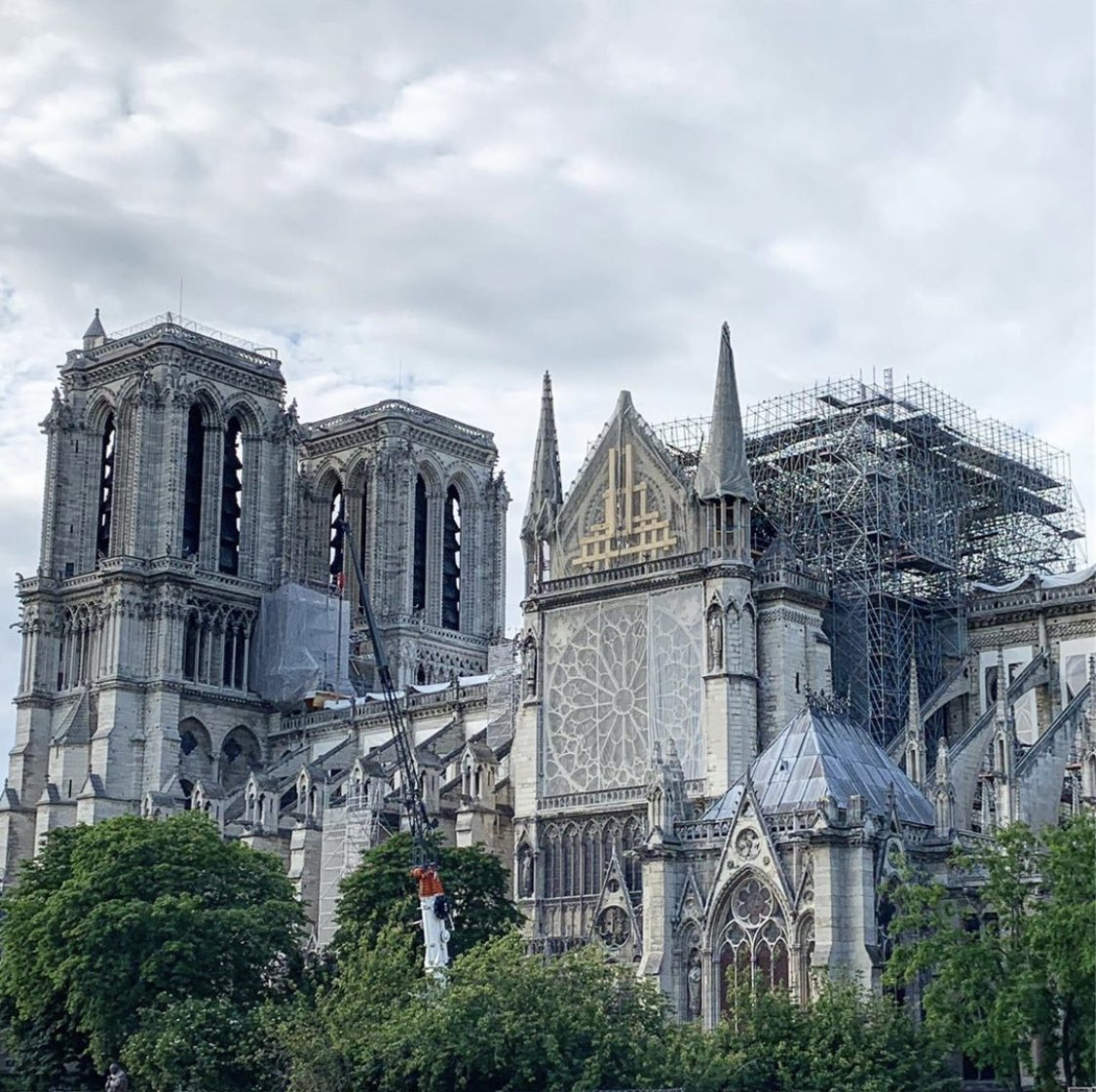 Notre-Dame now. #notredamecathedral #notredameparis #parisphoto via instagram.com/richardhine