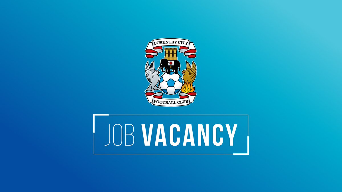 VACANCY: @ccfc_academy Goalkeeper Coach (Full Time)  Details ➡️ https://t.co/DLLLXETaDA #PUSB https://t.co/lGDFEFueQQ