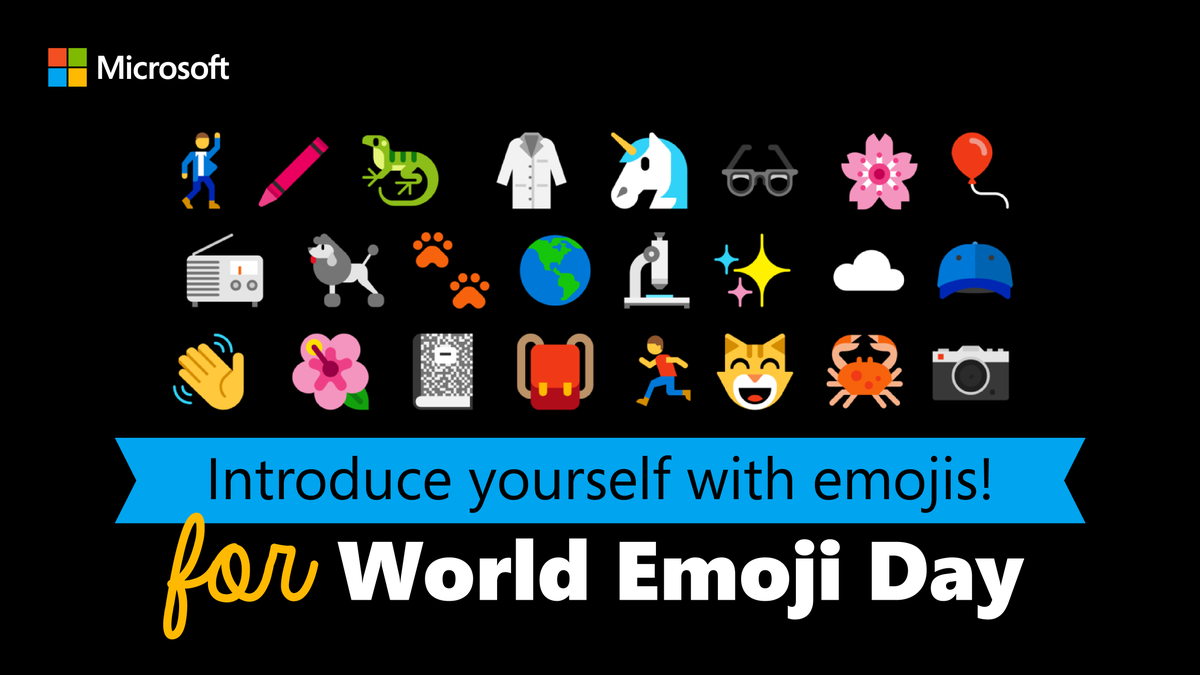Help us celebrate #WorldEmojiDay. Introduce yourself to the world by replying to this tweet using only emojis to describe what makes you, well, you!