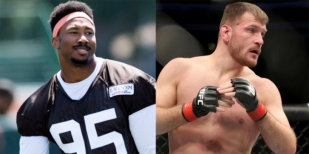 Ahead of @Browns training camp, Myles Garrett did some work with @stipemiocic during his #UFC241 training camp @ufc   http://www.nfl.com/news/story/0ap3000001036048/article/more-freedom-bodes-well-for-browns-myles-garrett …