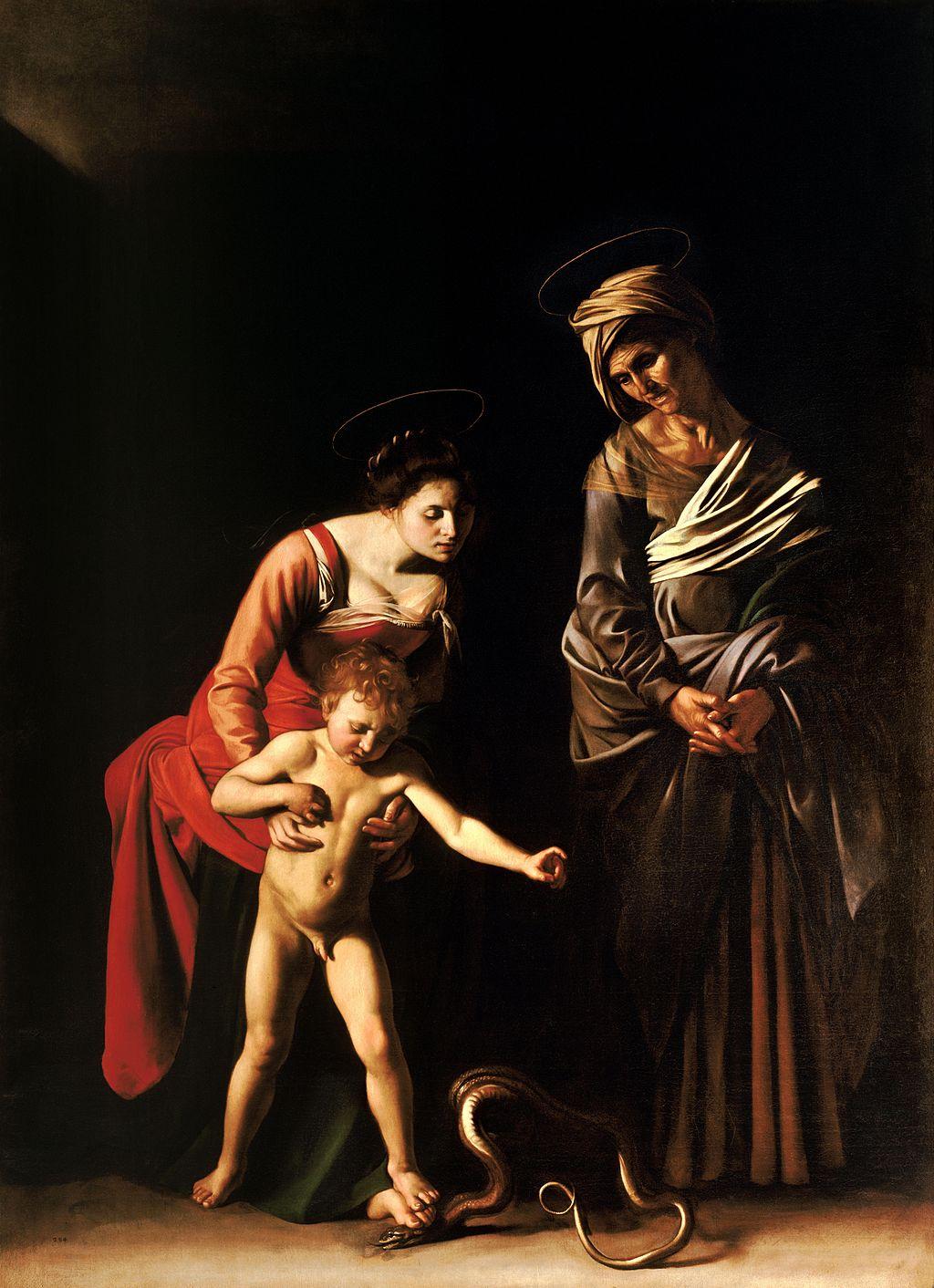 Galleria Borghese: 🎨 L'opera d'arte del giorno Michelangelo Merisi da Caravaggio, Madonna dei palaf...