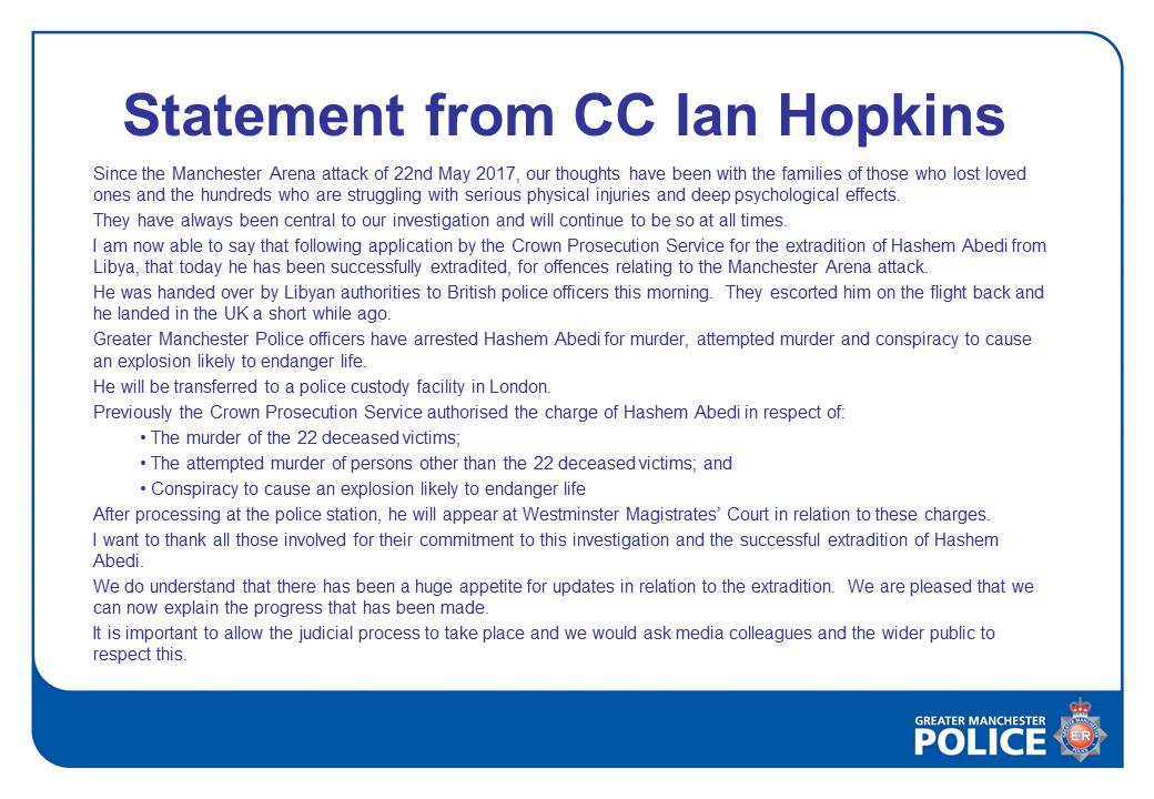 Statement from @CCIanHopkins