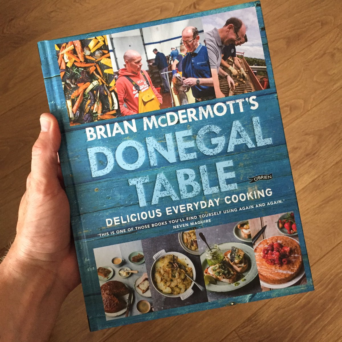 Fabulous birthday present from my folks but does this mean I have to stay at home and cook instead of visiting @FoyleHotel...? #WorldsBestCookeryBook #CheersBrian #DonegalTable<br>http://pic.twitter.com/Lo9mHVlNNR
