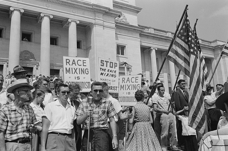"Calling people who believe in democracy, civil + economic rights, and racial justice ""communist"" has a long + rich history w/ white supremacy in the US. It was one of the preferred smears against integrating schools, & one of the main attacks segregationists used against MLK Jr: twitter.com/heerjeet/statu…"