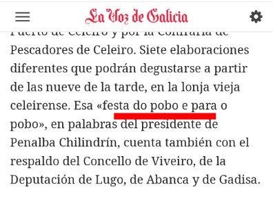 A festa do pobo é para o pobo Boa rima pero castrapo total #POBO ! #PenalbaChilindrín #Viveiro @vozamarina lavozdegalicia.es/noticia/amarin…