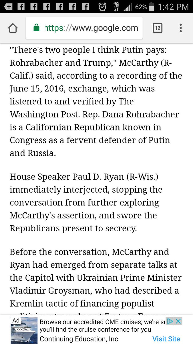 McCarthy knows Trump is Putin's puppet. He told Paul Ryan back in 2016 he thought Putin was paying Trump.