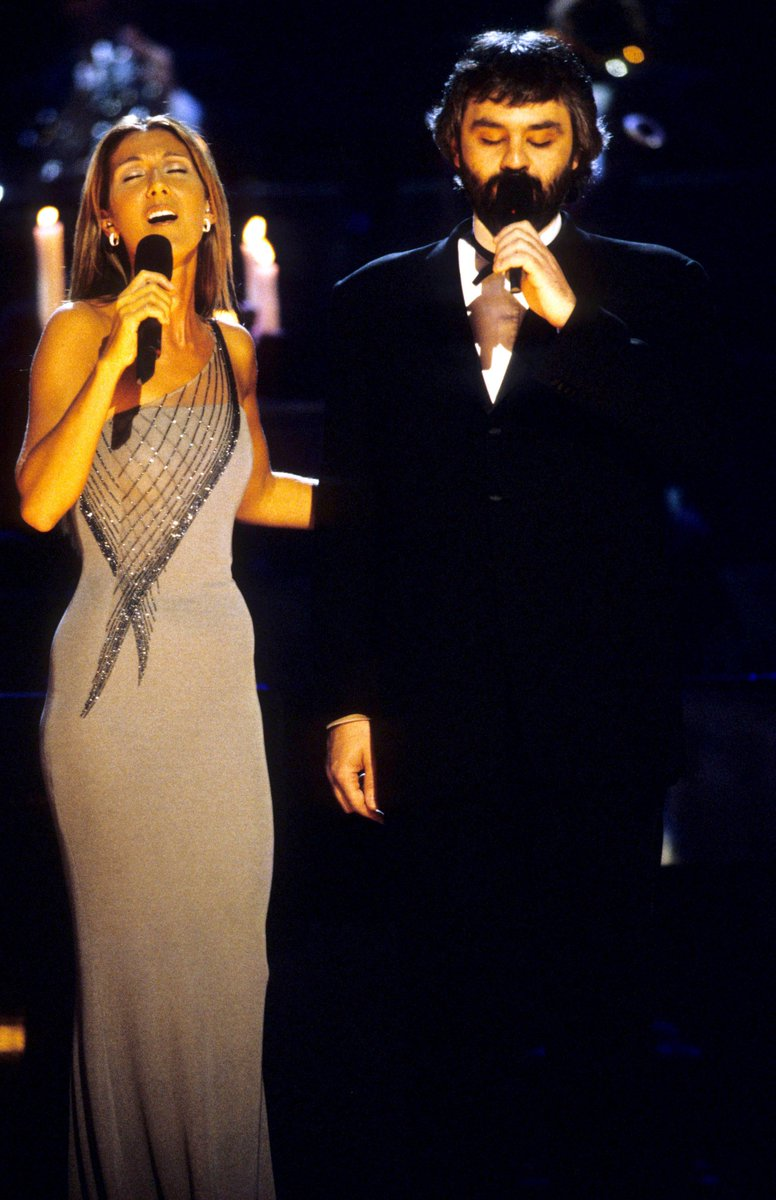 ".@celinedion took home 2 GRAMMY Awards, Record Of The Year and Best Female Pop Vocal Performance for ""My Heart Will Go On"" at 41st #GRAMMYs in 1999. That night she received a standing ovation when she performed ""The Prayer"" with @AndreaBocelli. #GRAMMYVault <br>http://pic.twitter.com/PonjRT97x9"