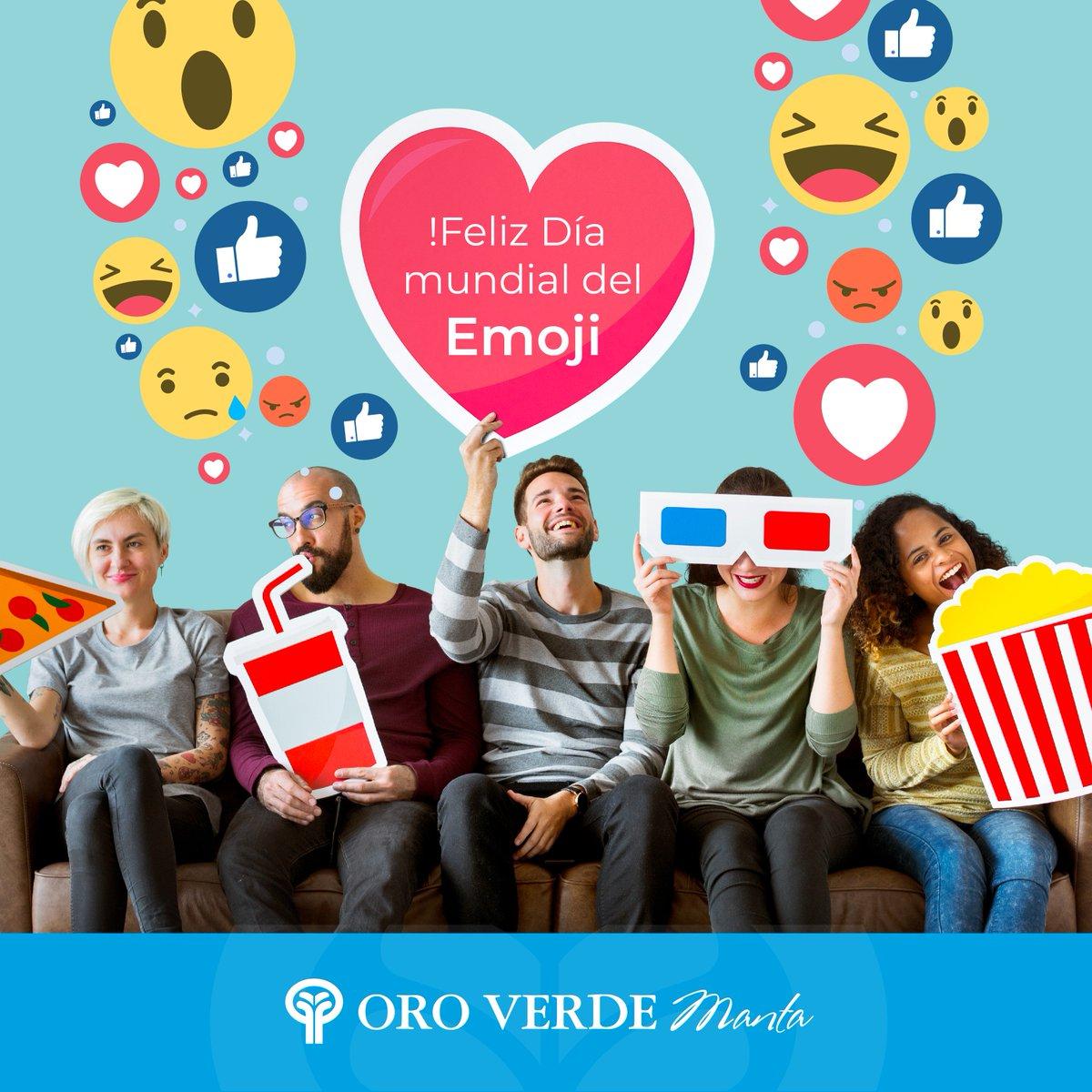 Feliz Día mundial del Emoji 😁😉✨ #OroVerdeManta #Deluxe https://t.co/25FGZZi14u