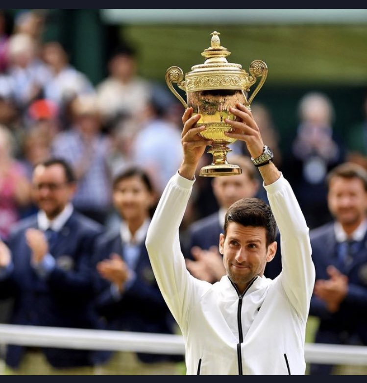 It's been 71 yrs but Djokovic became the 3rd player in @Wimbledon history in men's singles to save Championship point(s) & go on to lift the title🏆  The first was Henri Cochet in 1927 & second was Bob Falkenburg in 1948  Another bit of history Djokovic can add his name to #idemo