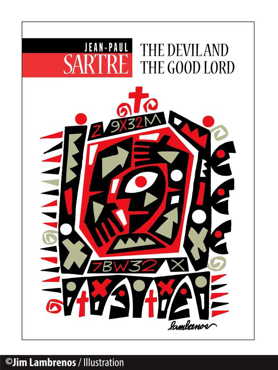 """Part of a series about the works of Jean-Paul Sartre. - """"The Devil And The Good Lord"""" #Sartre #Abstract #Graphic"""