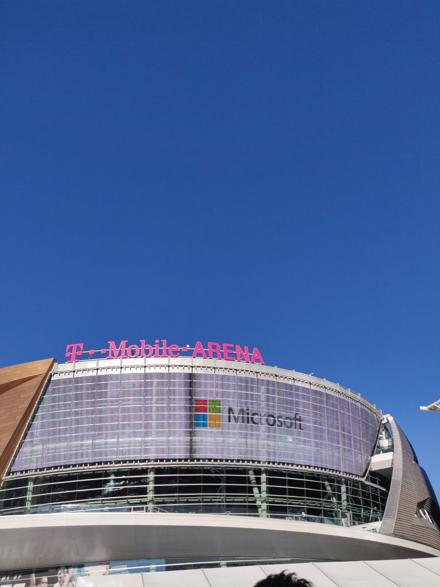 Live from T- Mobile Arena this morning for #MicrosoftReady hearing from #SatyaNadella #Microsoft #LasVegas