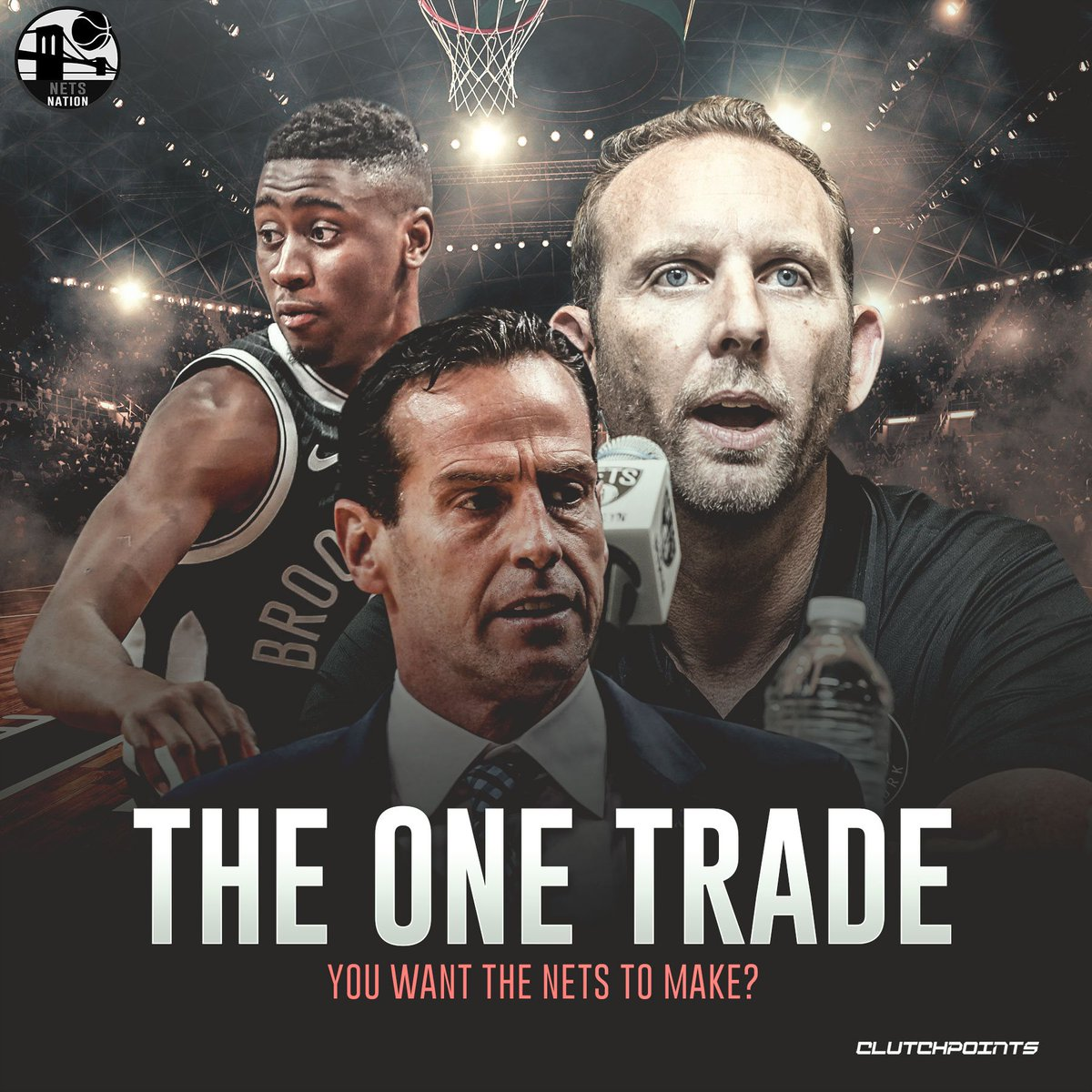Let your ideal trade scenario be known, Nets Nation. 👇  #WeGoHard #Nets