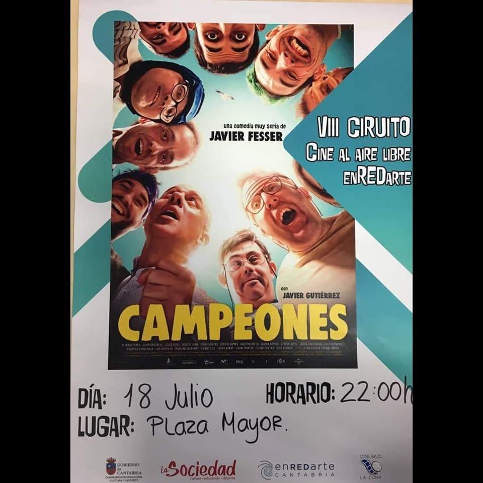 NO os perdíais la película #Campeones en #Ampuero mañana a las 22:00 en la Plaza Mayor @cant_infinita https://t.co/JmVglESyeF