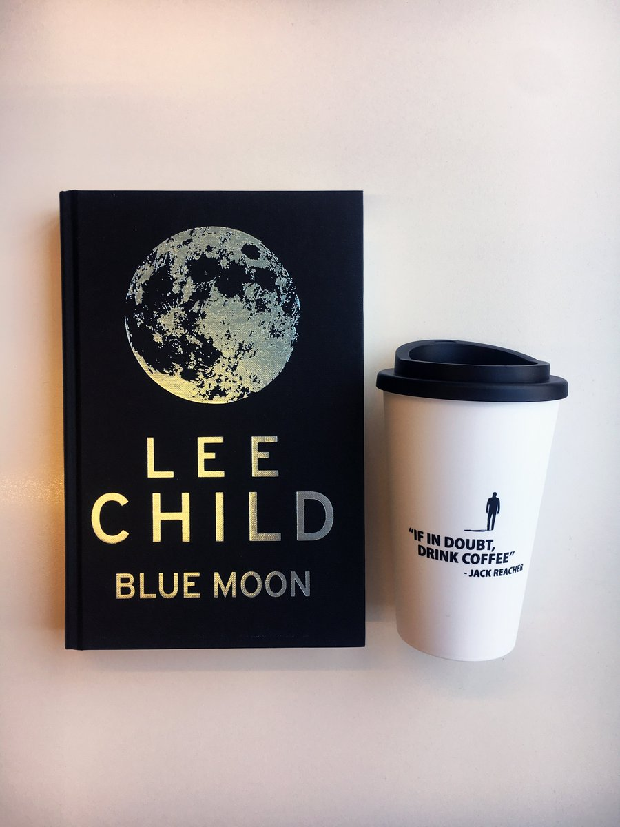 Fancy getting your hands on @LeeChildReacher's brand new white-knuckle read and a Jack Reacher coffee cup? RT for the chance to win a proof copy of #BlueMoon before it hits shelves this October!   UK, including Northern Ireland, only. Giveaway closes Wednesday 24 July.