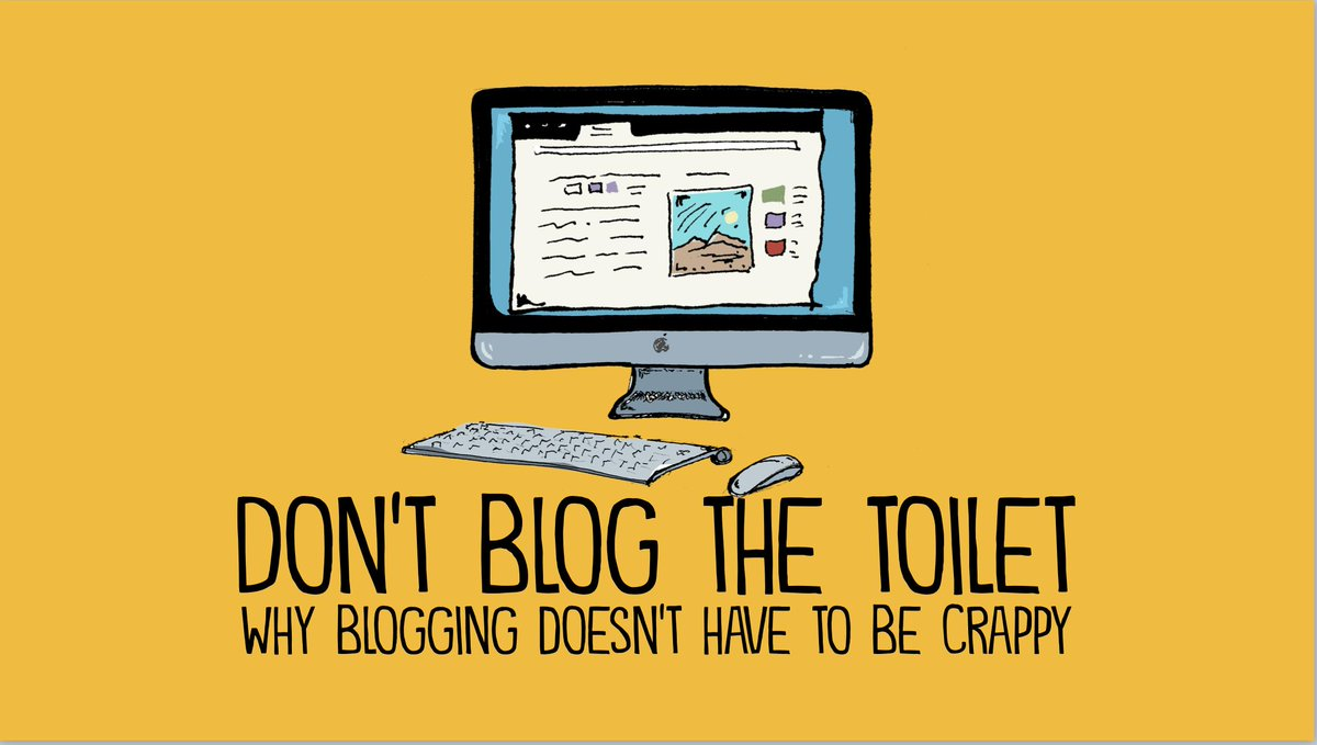 They asked me to create a presentation on blogging for my final doctoral course. Here's the title slide.