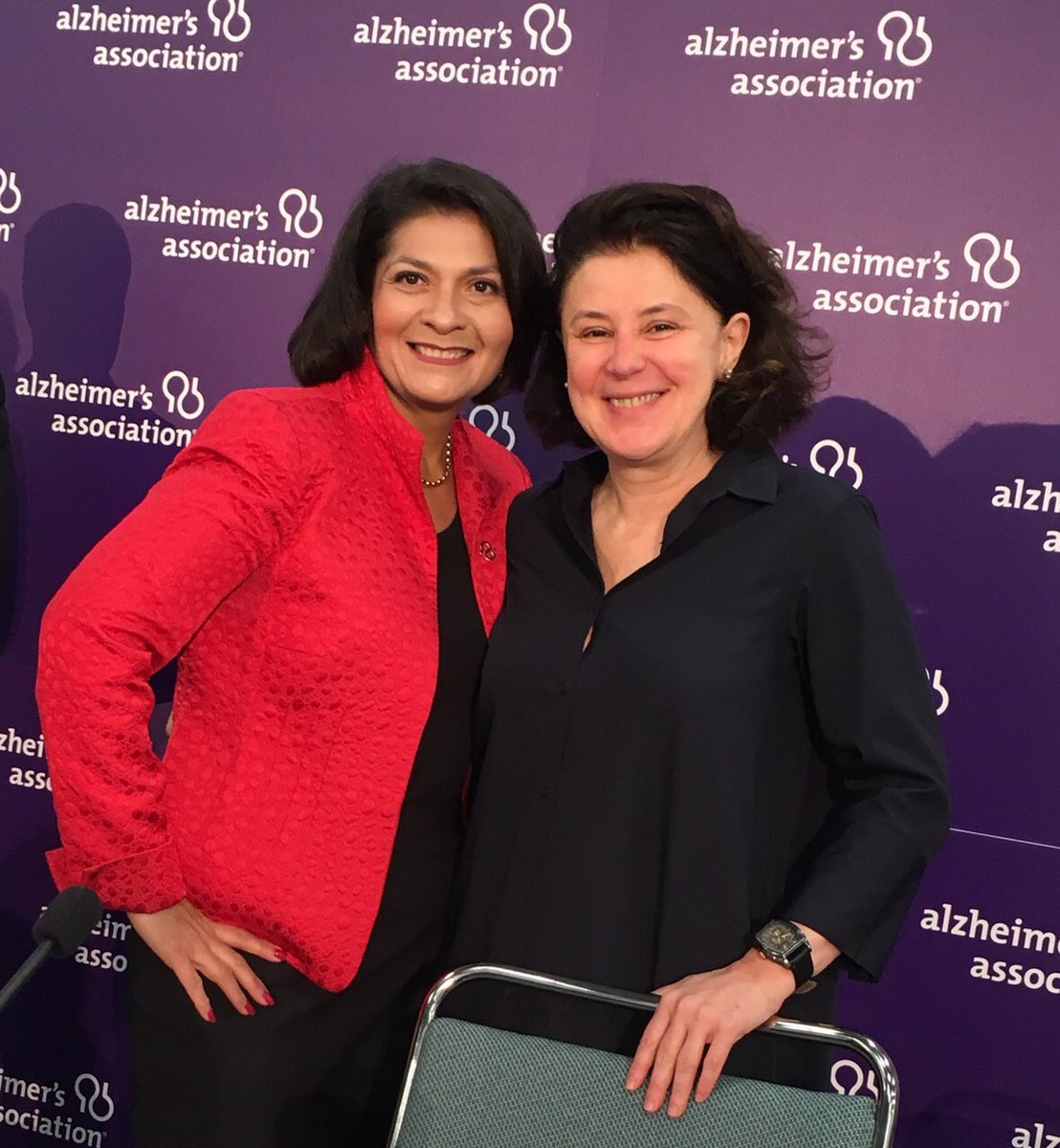 Dr. Suzana Petanceska @Alzheimers_NIH shared @AMPADPortal info with @DrMariaALZ at this morning's press briefing. #AAIC19<br>http://pic.twitter.com/VrldME2AEm